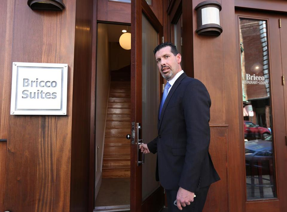 BRICCO SUITES — David Duggan handles reservations for Bricco Suites, where a one-bedroom suite goes for about $249 a night, with discounts for longer stays.