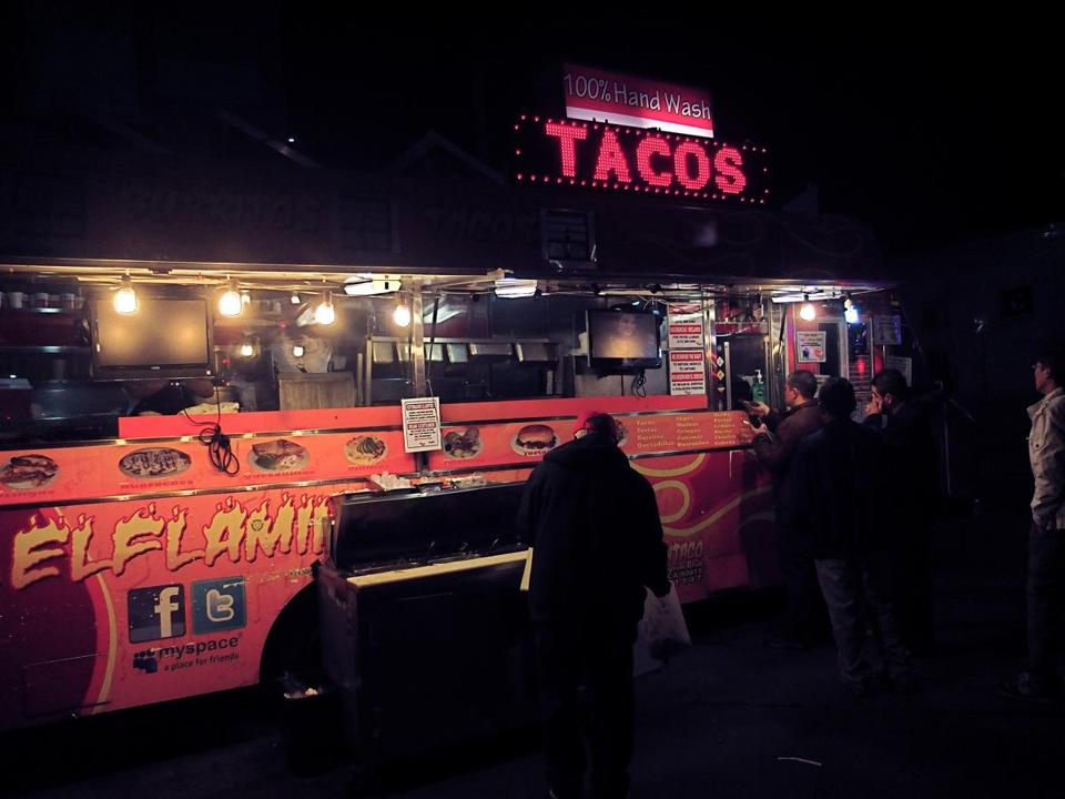 The El Flamin' Taco truck.