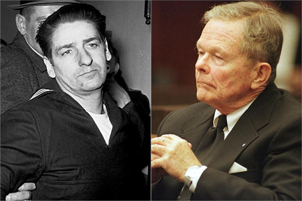 Self-confessed Boston Strangler Albert DeSalvo (left) and former priest John Geoghan