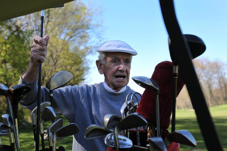Frank Donohue, a member of the Phil Ernst Senior Men's League, is 89.