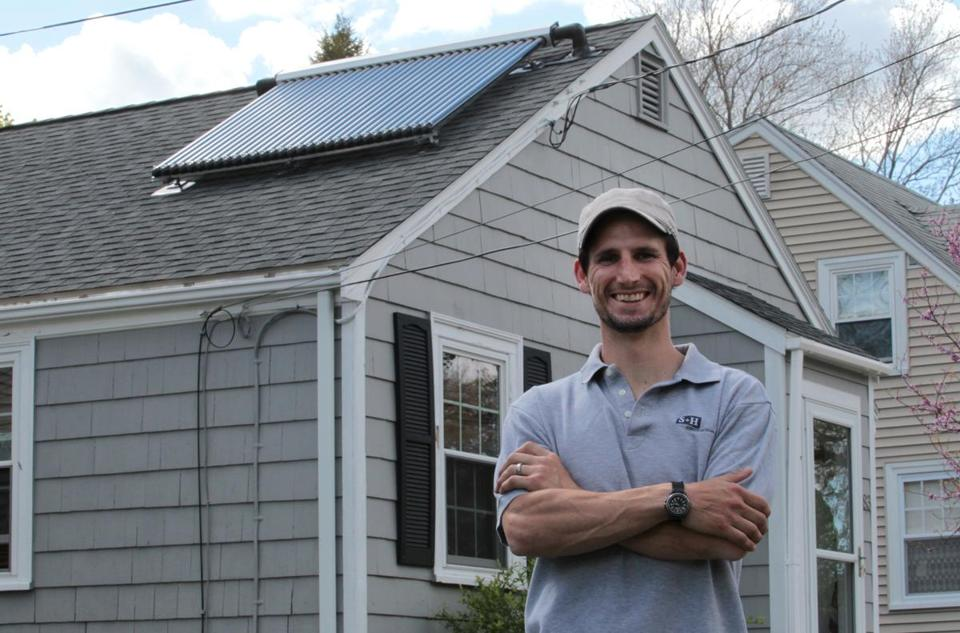 Eric Lorenz became interested in solar power in college. He recently installed a solar hot water system in his home.