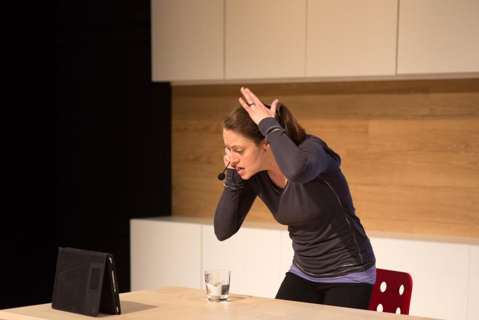 "Stacy Fischer in Underground Railway Theater's production of Lisa Loomer's ""Distracted."""