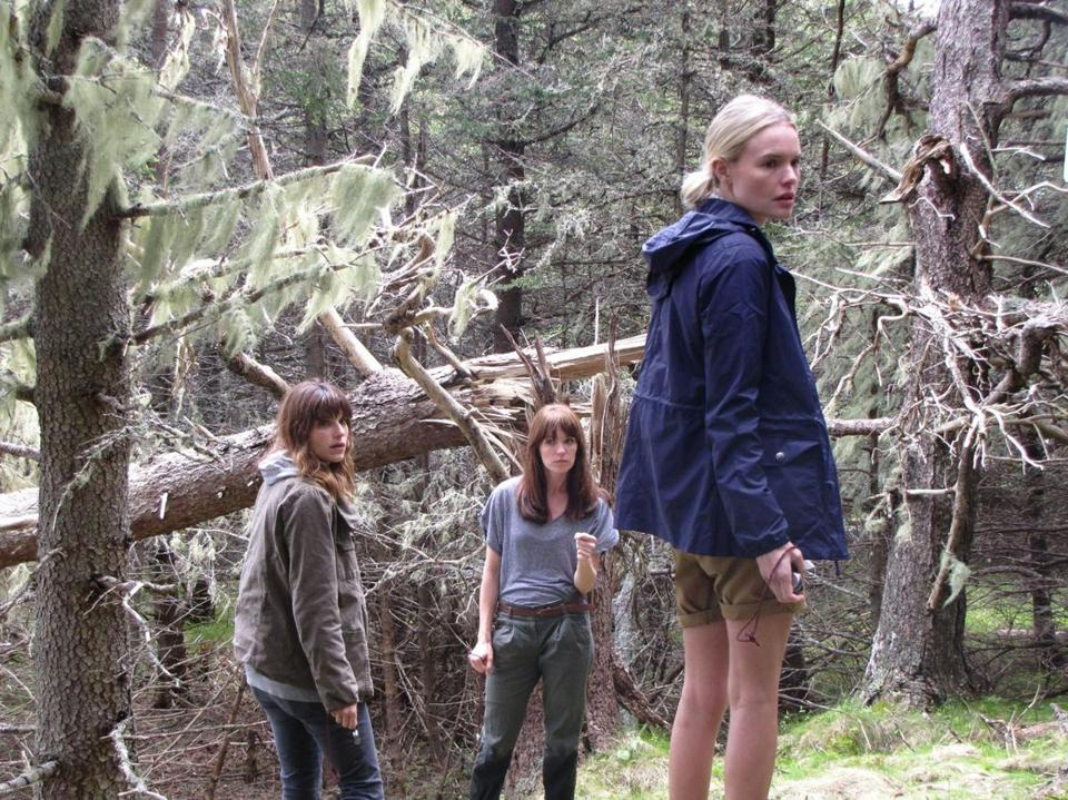"From left: Lake Bell, Katie Aselton, and Kate Bosworth play three friends on an island off Maine in ""Black Rock."""