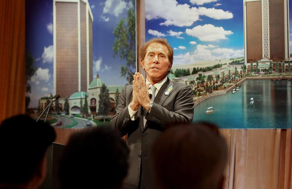Steve Wynn unveiled his latest renderings for a proposed casino in a meeting with Everett residents Friday,