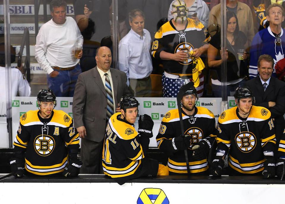 There was little sign of hope on — or behind ­— the Bruins' bench as the final seconds ticked off in their Game 5 loss.