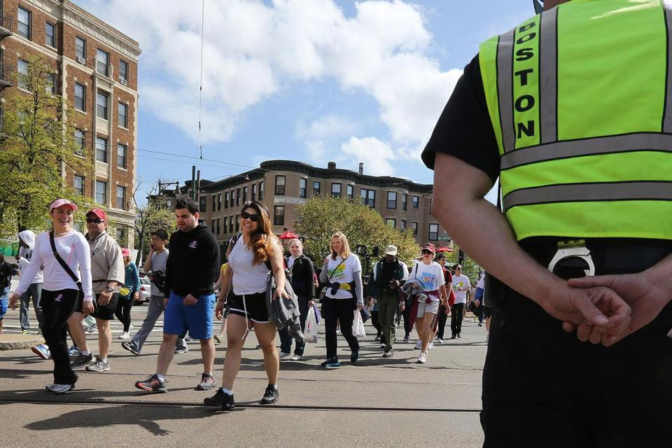 The Walk for Hunger is one of several fund-raising events held in the spring. Some groups say they have lost donors because of fund-raising on behalf of the Marathon bombings.