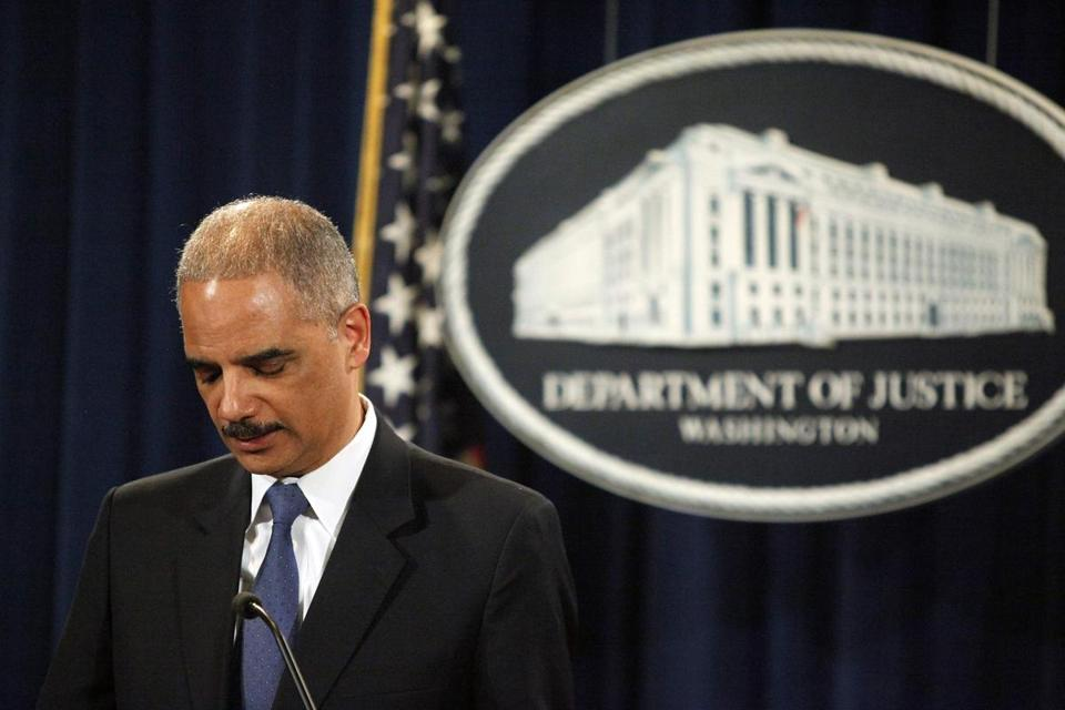 Attorney General Eric Holder spoke at a news conference Tuesday.