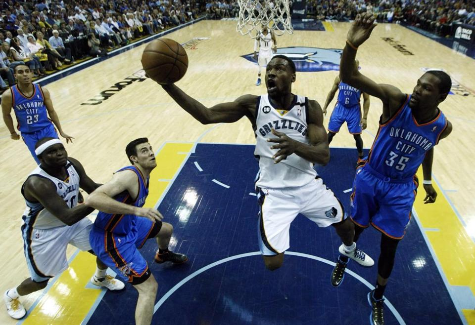 Memphis Grizzlies guard Tony Allen finished with 10 points and had three steals.