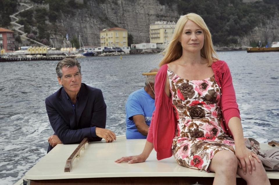 "Pierce Brosnan is Philip and Trine Dyrholm is Ida in Susanne Bier's ""Love Is All You Need."""