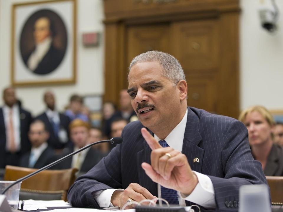 Attorney General Eric Holder defended an inquiry into AP phone records on Wednesday.