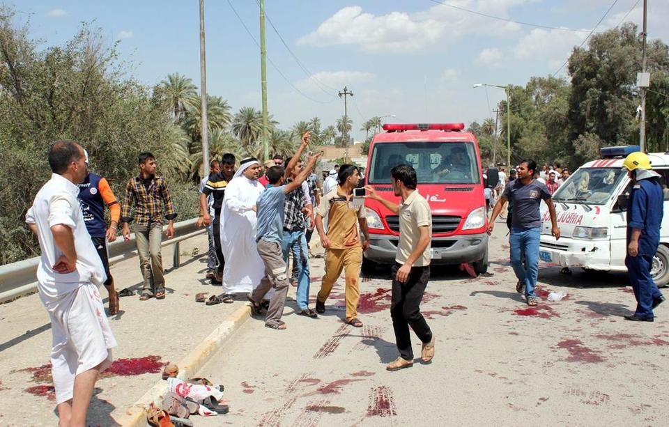 Cities hit by bombings Friday included Baqouba and Fallujah. Attacks have killed 130 since Wednesday.