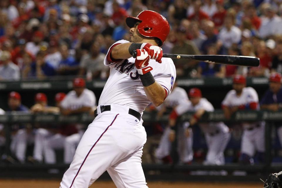 Geovany Soto hit his first home run of the year in the Rangers' seven-run third.