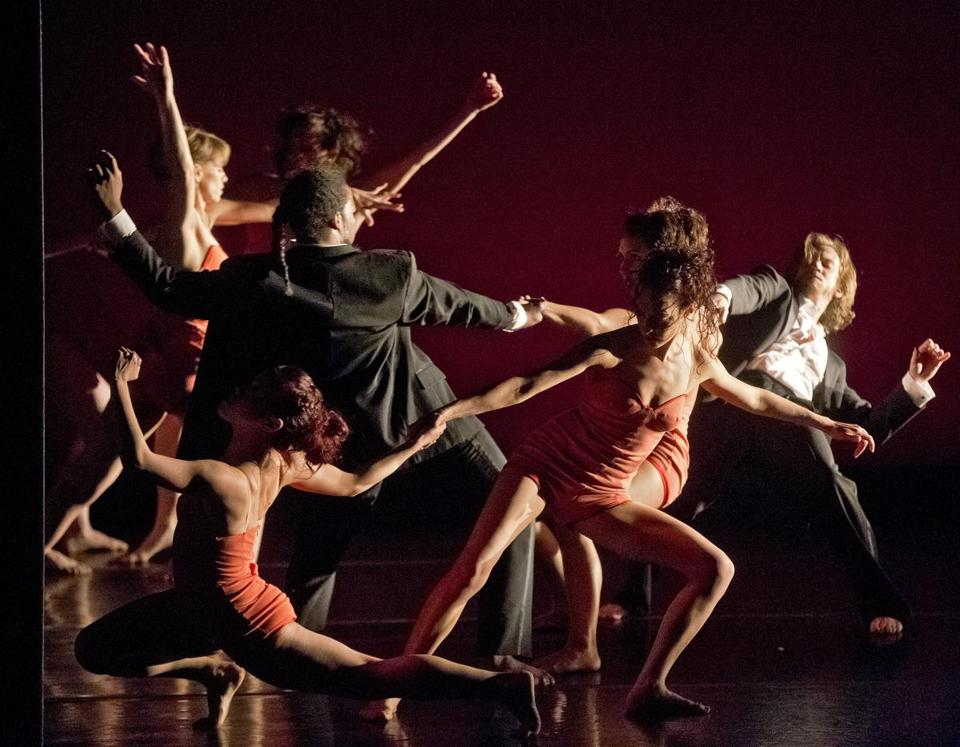 "Prometheus Dance performing the world premiere of ""Heart of the Matter"" at the Boston Conservatory Theater on Saturday."
