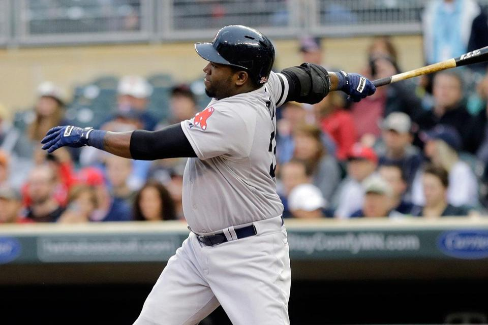 David Ortiz put the Red Sox on the board with an RBI single in the first inning.