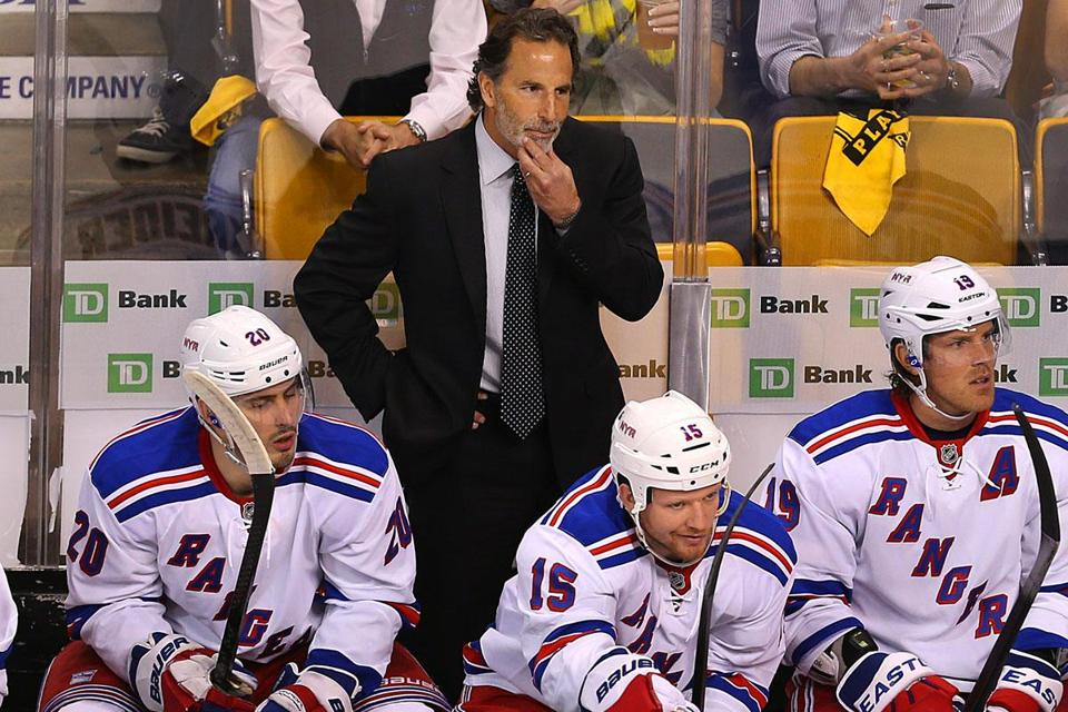 John Tortorella didn't feel much like talking after his Rangers lost to the Bruins Thursday night in overtime in Game 1.