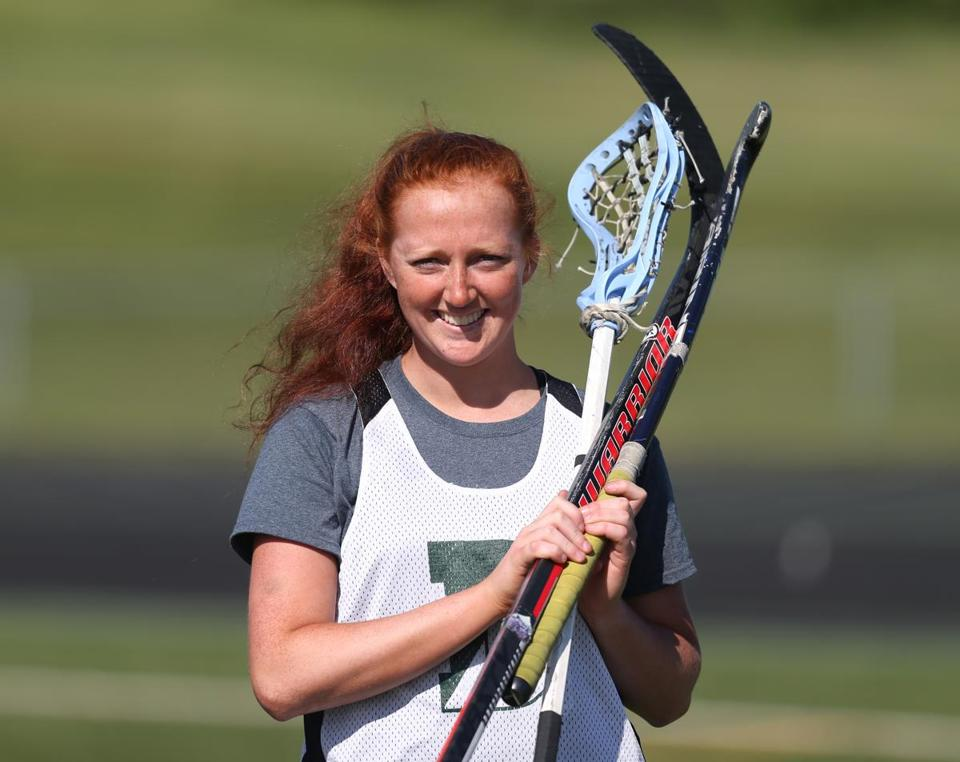 Hannah Murphy stands alone as an athlete at Duxbury High ...