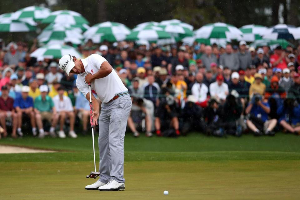 Masters champion Adam Scott, above, uses the controversial anchored putting stroke. )