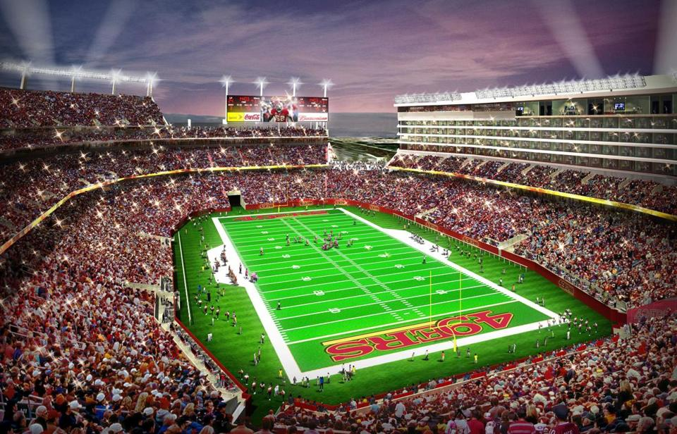 An artist's rendering of the new 49ers stadium in Santa Clara, Calif., set to open for the 2014 season. (AP Photo/San Francisco 49ers)