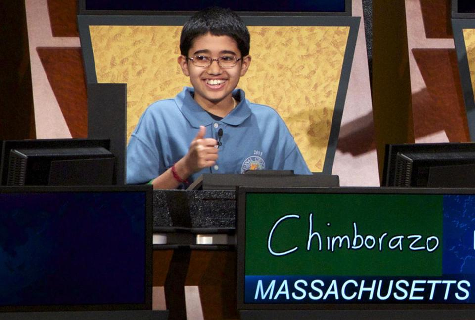 Sathwik Karnik answered the final question in the 2013 National Geographic Bee on Wednesday.