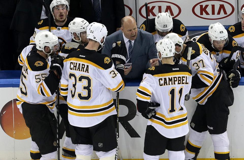 Claude Julien and the Bruins have a 3-0 lead in the Eastern Conference semifinals.