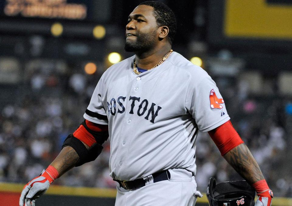 David Ortiz broke up a no-hit bid in the seventh, but hit into a double play in the eighth.