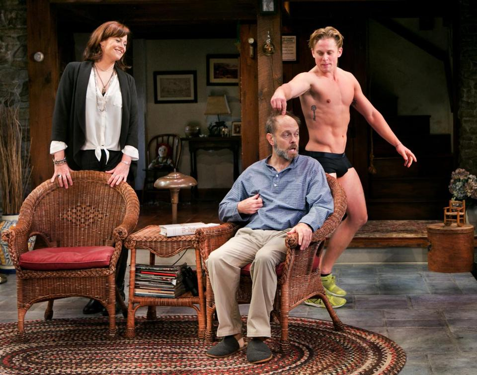"David Hyde Pierce and Billy Magnussen in ""Vanya and Sonia and Masha and Spike."""