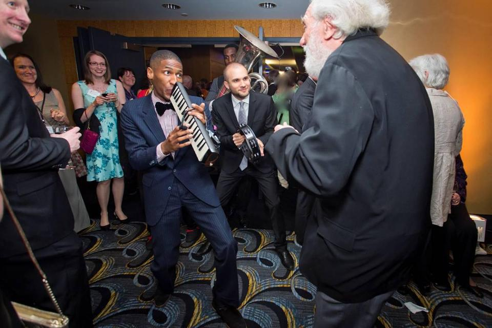 "Jon Batiste performs at the ""From the Top"" annual gala at the Back Bay Events Center."