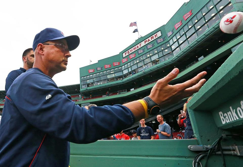 Terry Francona signed autographs for fans before the game against the Red Sox.