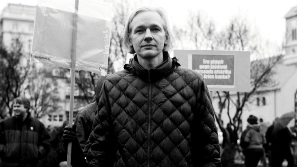 "Although Julian Assange is not interviewed, he is still at the heart of ""We Steal Secrets."""