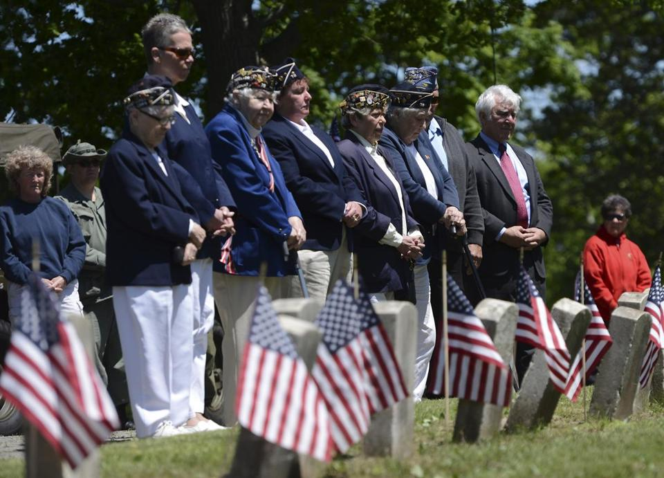 Members of the Foggs-Roberts American Legion Post 78 paid respects during a Memorial Day ceremony in Hyde Park's Fairview Cemetery.