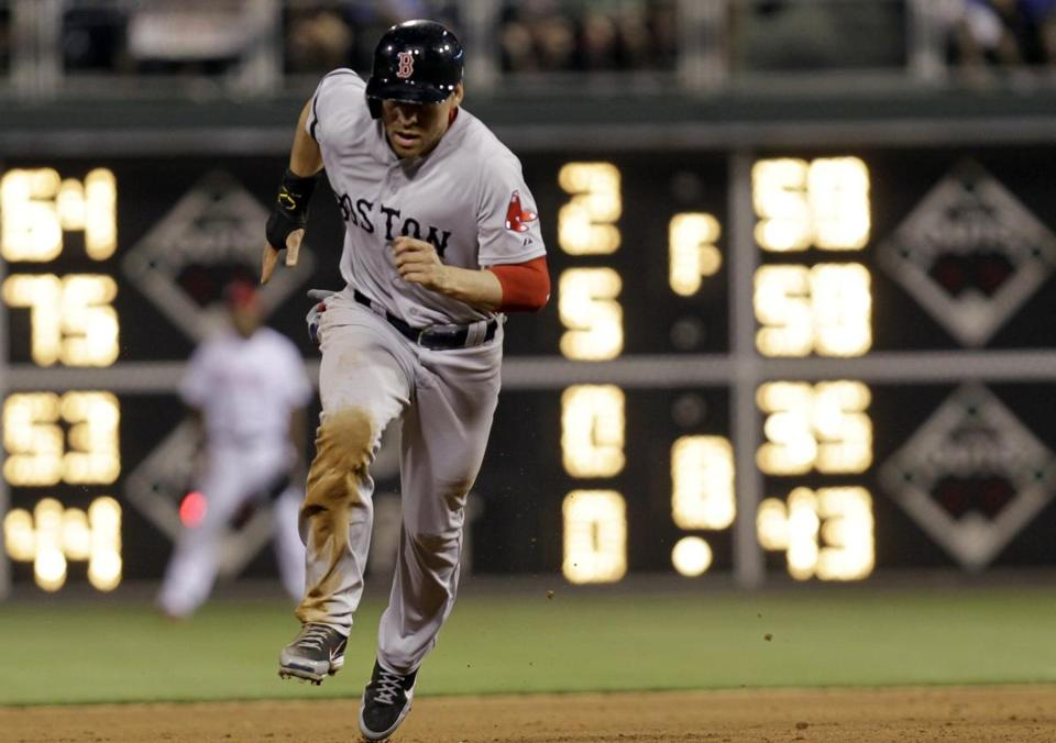 Jacoby Ellsbury had three hits, a walk, and a club-record five stolen bases as the Red Sox won, 9-2.