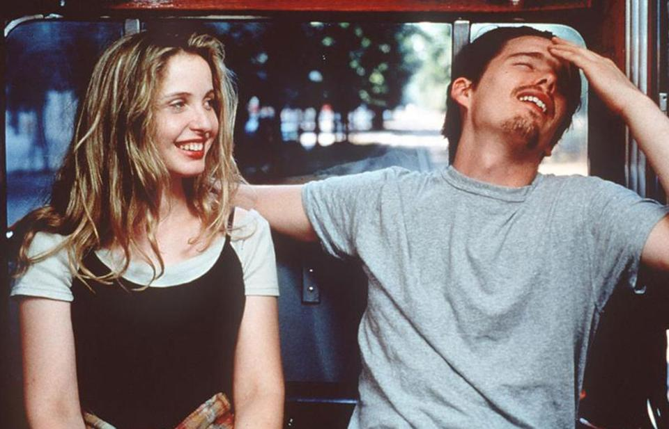 "The ""Before Sunrise/Sunset/Midnight"" trilogy bucks the American film's persistent desire to elide the reality of aging and the ravages of time. Pictured, ""Before Sunrise"" 1995."