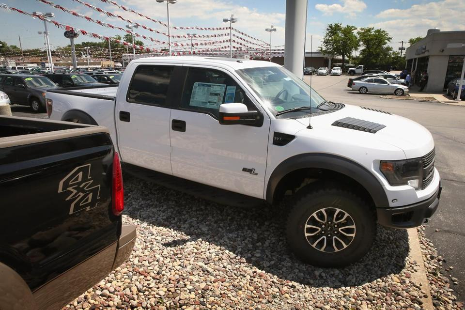 Sales of Ford's F-series pickup rose 31 percent last month.