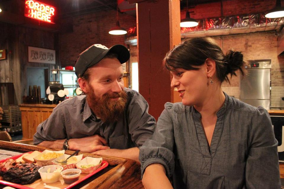 Jeff Lutonsky and wife Meghan Love serve a variety of Southern dishes at Mabel's.