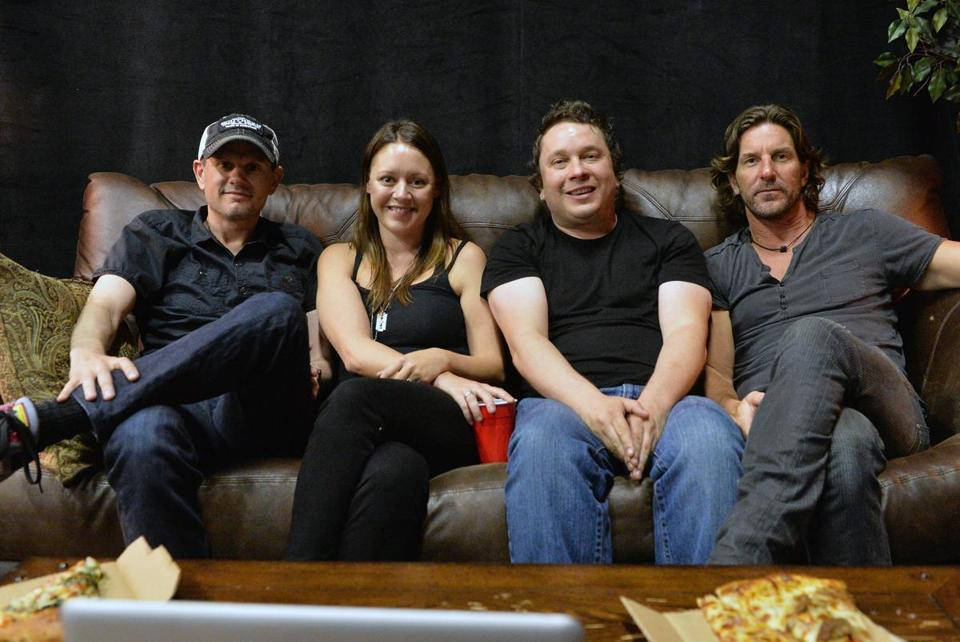 Songwriters (from left) Troy Verges, Hillary Lindsey, Gordie Sampson, and Brett James are behind enough hits to call themselves the Music City Hit-Makers.