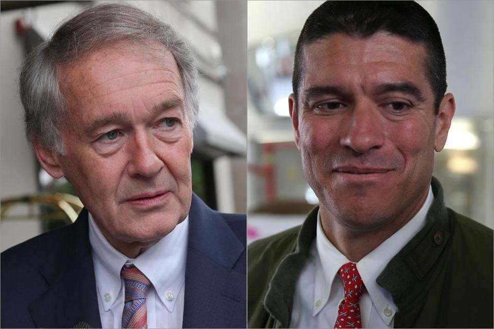 "Gabriel Gomez's misstep in calling Rep. Edward Markey (left) ""pond scum'' underscored his inexperience on the campaign trail."