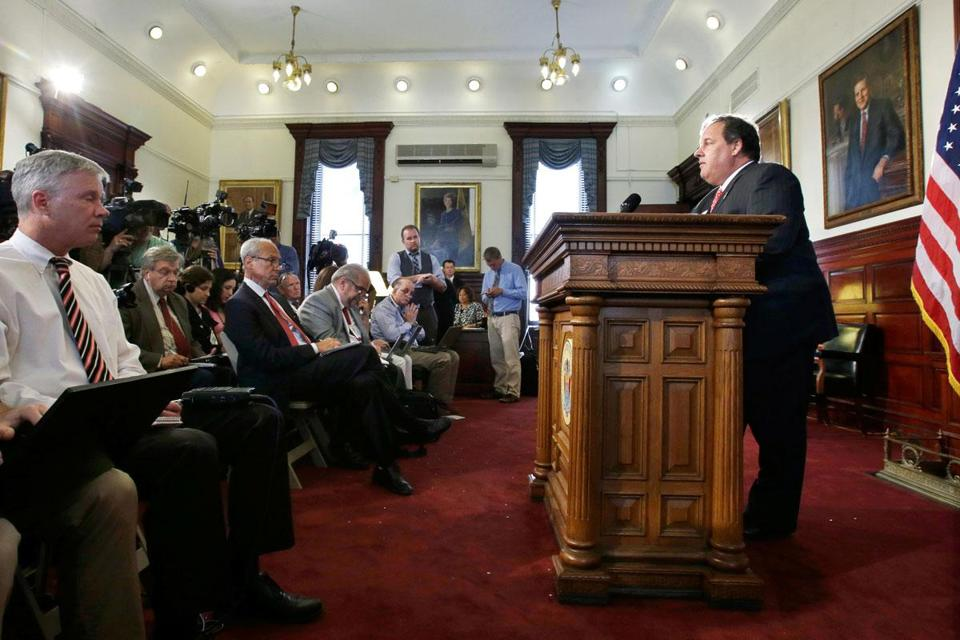 New Jersey Governor Chris Christie will name an interim US senator and voters will permanently fill the seat on Oct. 16.