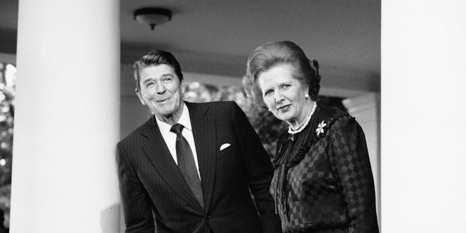 Margaret Thatcher and President Ronald Reagan in 1982.