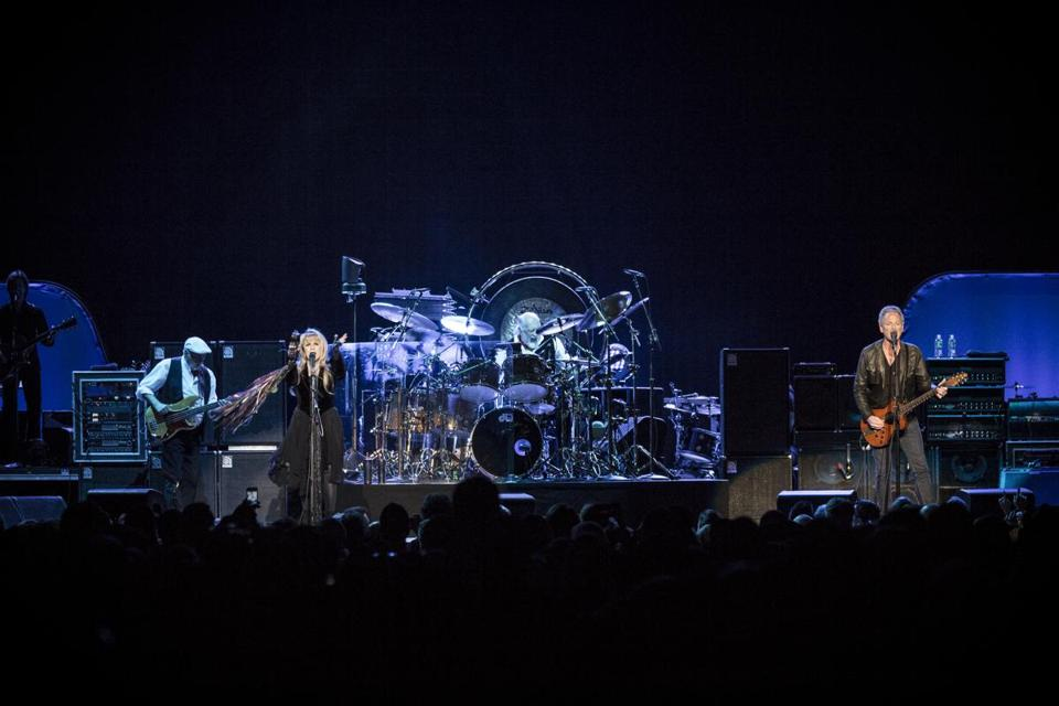 From left: John McVie, Stevie Nicks, Mick Fleetwood, and Lindsey Buckingham of Fleetwood Mac.