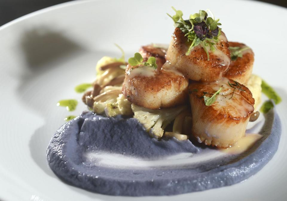 Nantucket scallops at The Farmhouse in Needham.