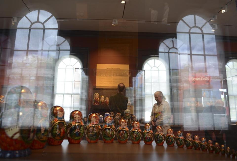 One of the 83 sets of matryoshkas on display at the Museum of Russian Icons in Clinton.