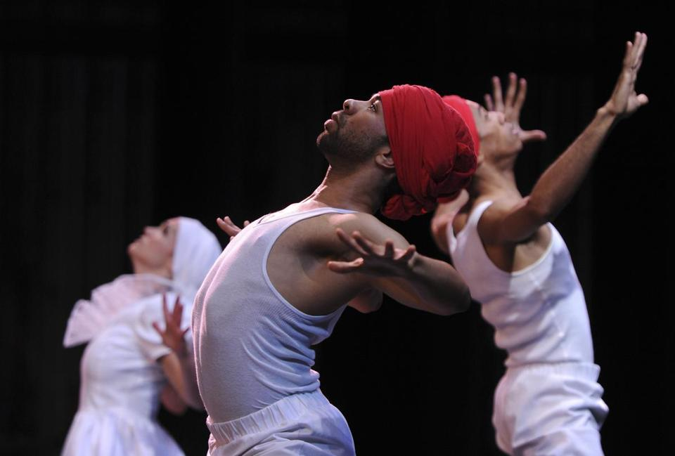 Dancers with Jean Appolon's Expressions recently performed at Cambridge Rindge & Latin School.