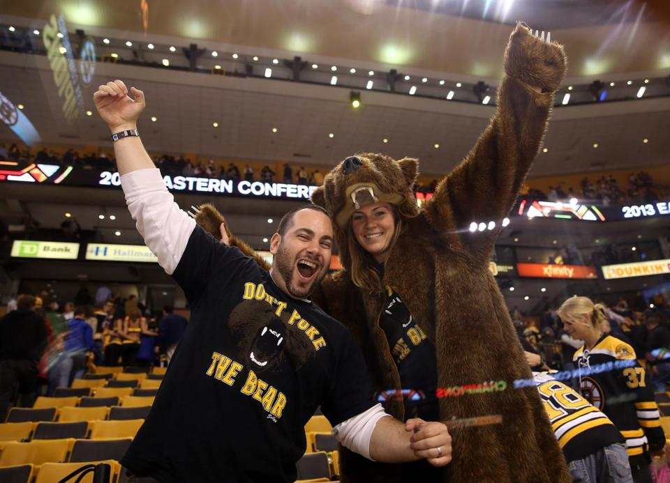 Fans celebrated after the Bruins beat the Penguins 1-0 in Game 4, advancing to the Stanley Cup Final.