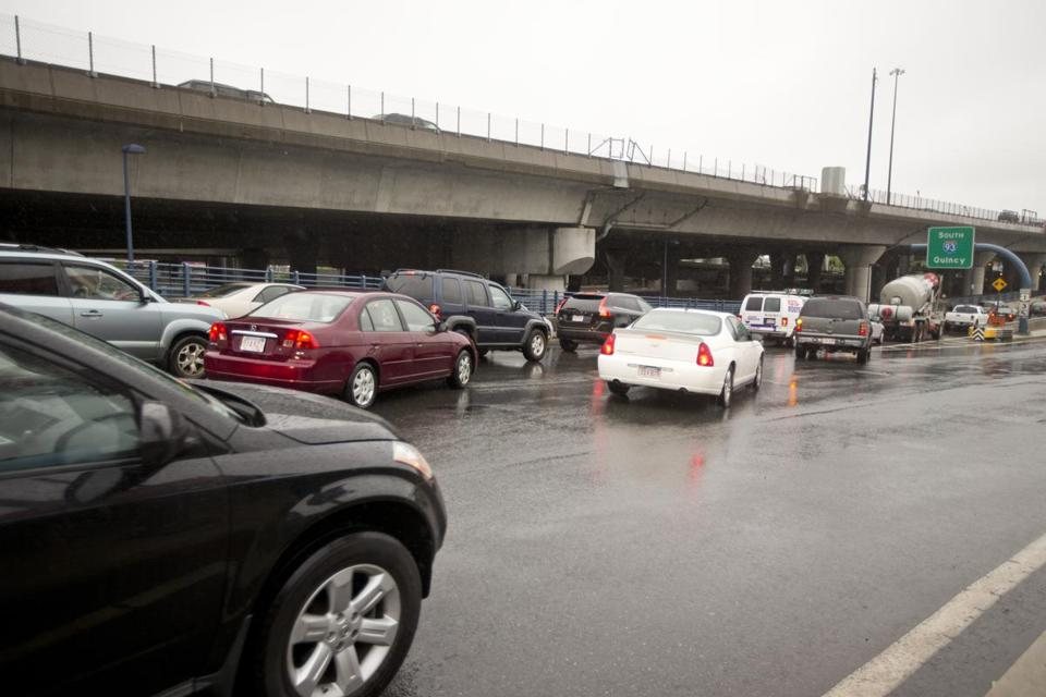 Merging onto Interstate 93 southbound from Albany and Herald streets sometimes takes equal parts gumption and guile. Only the far left lane is permitted to enter the ramp.