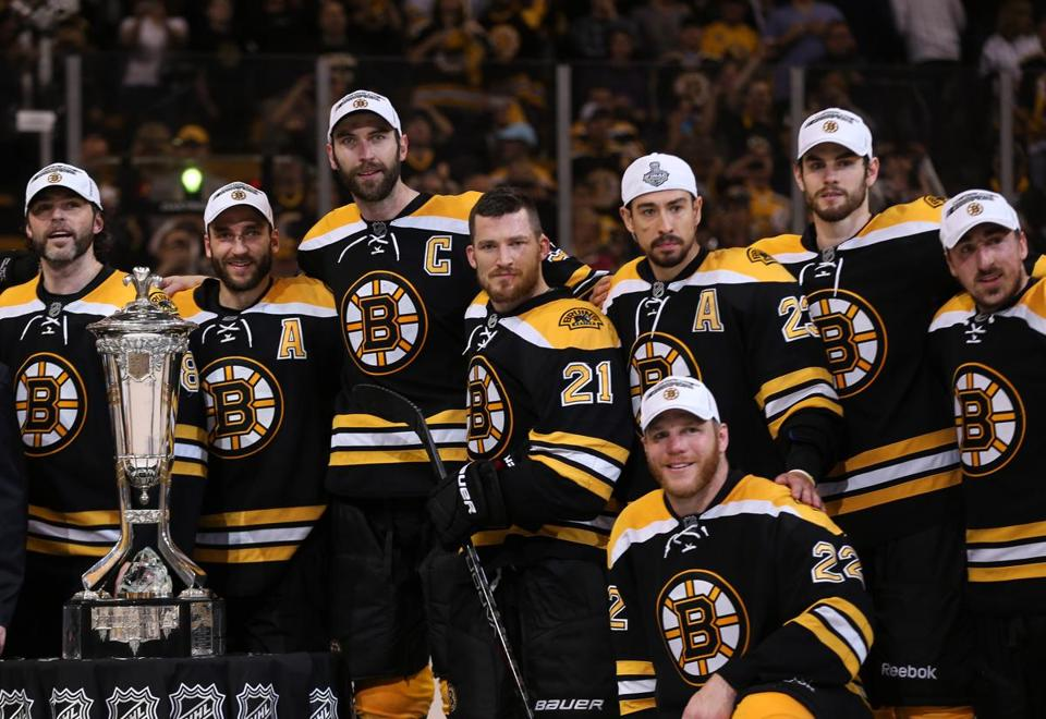 The Bruins have 17 players who were on the team's Stanley Cup-winning roster in 2011.