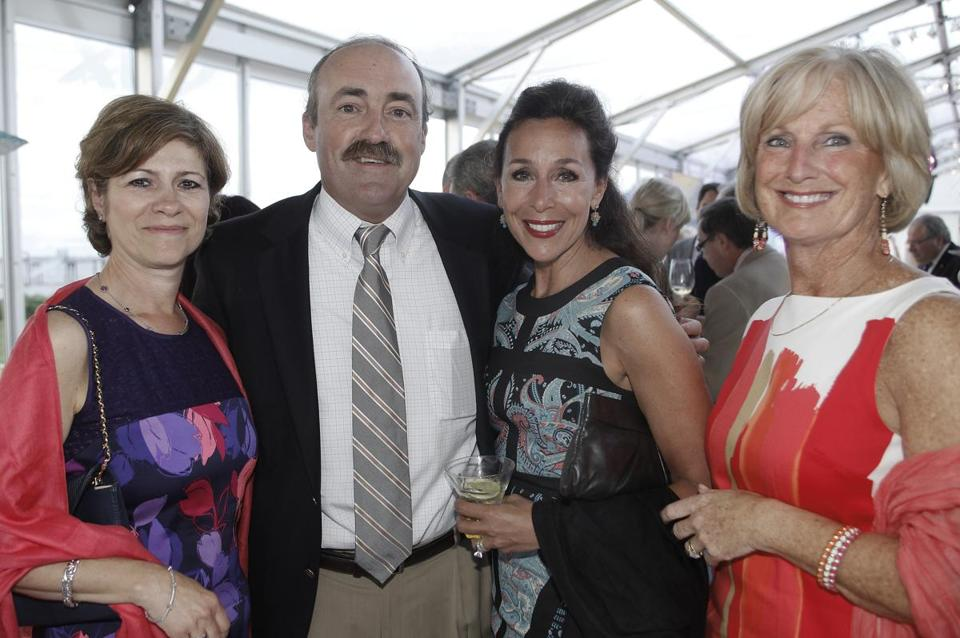 From left: Ellen Centanni, John and Christine Battaglia, and Kitty Pinch, all of Hingham.