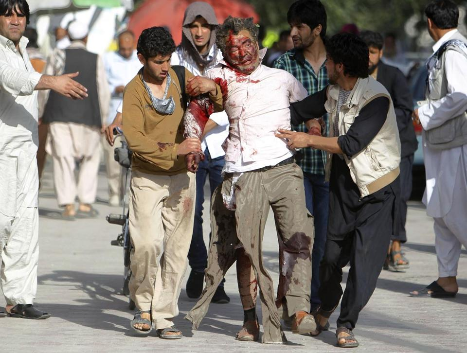 Besides the 17 dead, 39 other people were wounded in the attack outside the Supreme Court complex in Kabul.