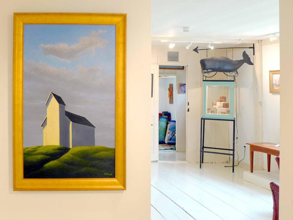 The bright, atmospheric rooms of Old Spouter Gallery show off paintings and folk art to equal advantage.