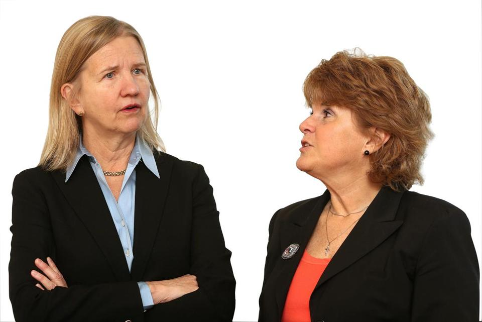 Fay Donohue (left) and Pamela Reeve agree the best mentorships evolve organically.