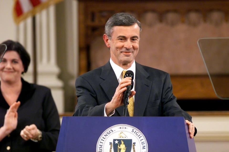 Governor Paul Cellucci delivered a State of the State address in 2001.
